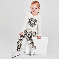 Girls' Toddler Converse Leopard Chuck Taylor Patch T-Shirt and Allover Print Leggings