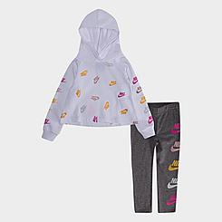 Girls' Toddler Nike Futura Stack Hoodie and Legging Set