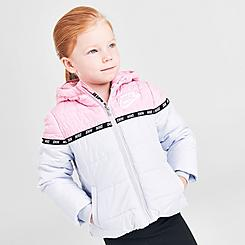 Girls' Toddler Nike Sportswear Taped Colorblock Puffer Jacket