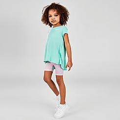 Girls' Toddler Nike Pixel Top and Bike Shorts Set