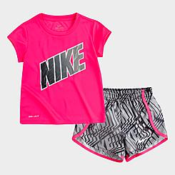Girls' Toddler Nike Dri-FIT Laser T-Shirt and Shorts Set