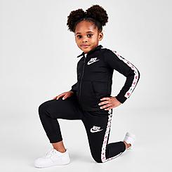 Girls' Toddler Nike Heart Taping Tricot Tracksuit