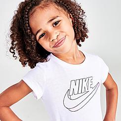Girls' Toddler Nike Sportswear Mini Me Cap-Sleeve T-Shirt