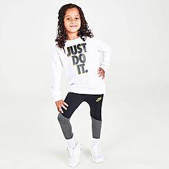 Girls' Toddler Nike G4G Crewneck Sweatshirt and Leggings Set