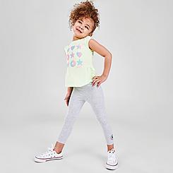 Girls' Toddler Converse Ruffle T-Shirt and Legging Set