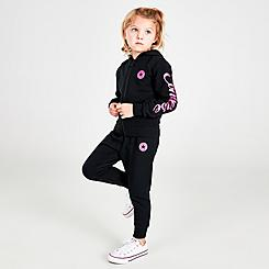 Girls' Toddler Converse Full-Zip Hoodie and Jogger Pants Set