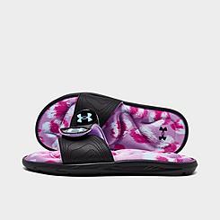 Girls' Big Kids' Under Armour Ignite 6 Graphic Footbed Slide Sandals