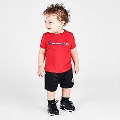 Boys' Infant Champion Multicolor Script Logo T-Shirt and Shorts Set