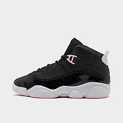 Girls' Little Kids' Air Jordan 6 Rings Basketball Shoes