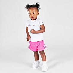 Girls' Infant Champion Colorblock Script T-Shirt and Shorts Set