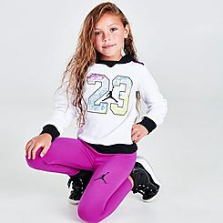 Girls' Little Kids' Color Outside The Lines Leggings and Hoodie Set