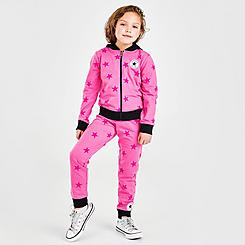 Girls' Little Kids' Converse Star Full-Zip Hoodie and Jogger Pants Set