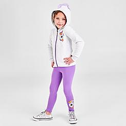 Girls' Little Kids' Converse Unicorn Full-Zip Hoodie and Leggings Set