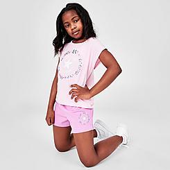 Girls' Little Kids' Converse Flower Crown Chuck Taylor Logo T-Shirt and Shorts Set