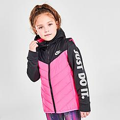 Girls' Little Kids' Nike 2Fer Puffer Jacket