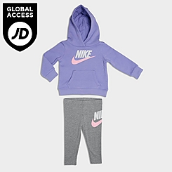 Girls' Little Kids' Nike Club HBR Hoodie and Jogger Pants Set