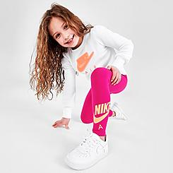 Girls' Little Kids' Nike Air Crewneck Sweatshirt and Leggings Set