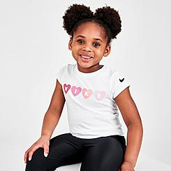 Girls' Little Kids' Nike Hearts T-Shirt