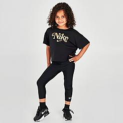 Girls' Little Kids' Nike High-Waisted Leggings