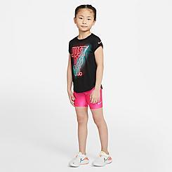 Girls' Little Kids' Nike High-Waisted Bike Shorts