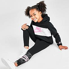Girls' Little Kids' Nike Futura Pullover Hoodie and Leggings Set