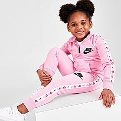 Girls' Little Kids' Nike Heart Taped Tricot Tracksuit