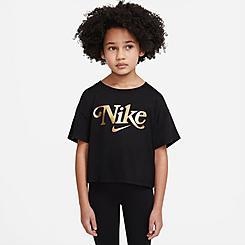 Girls' Little Kids' Nike Metallic Logo Graphic T-Shirt