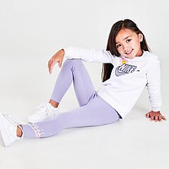 Girls' Little Kids' Nike Flower Child Crewneck Sweatshirt and Leggings Set