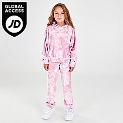 Girls' Little Kids' Nike Velour Pullover Hoodie and Jogger Pants Set