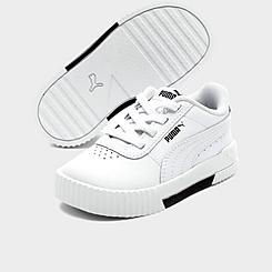 Girls' Toddler Puma Carina Leather Casual Shoes