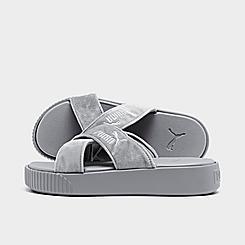 Women's Puma Velvet Platform Slide Sandals