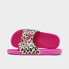 Girls' Big Kids' Puma Cool Cat Cheetah Slide Sandals