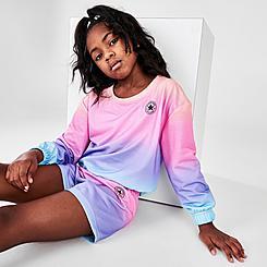 Girls' Little Kids' Converse Boxy French Terry Crewneck Sweatshirt
