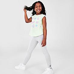 Girls' Little Kids' Converse Ruffle T-Shirt and Legging Set