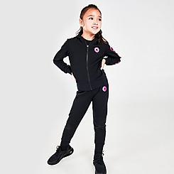 Girls' Little Kids' Converse Full-Zip Hoodie and Jogger Pants Set