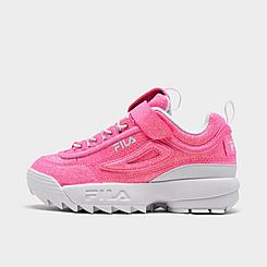 Girls' Little Kids' Fila Disruptor 2 Glimmer Casual Shoes