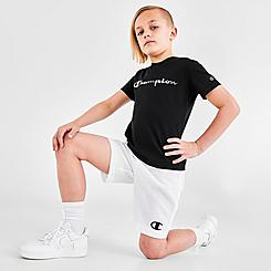 Boys' Little Kids' Champion Multicolor Script Logo T-Shirt and Shorts Set
