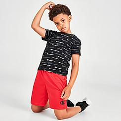 Boys' Little Kids' Champion Allover Print Script Multi-Color Shorts and T-Shirt Set