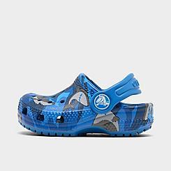 Kids' Toddler Crocs Classic Shark Clog Shoes