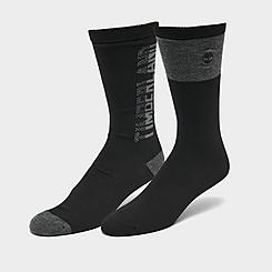 Men's Timberland Logo Marled 2-Pack Crew Socks