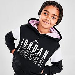 Girls' Jordan Highlight Boxy Pullover Hoodie