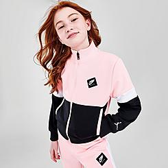 Girls' Jordan Jumpman Air Colorblock Tricot Full-Zip Jacket
