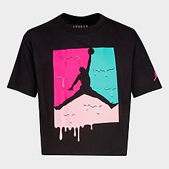 Girls' Little Kids' Jordan Ice Cream Drip Jumpman T-Shirt