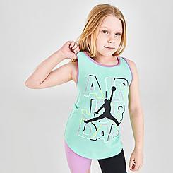 Girls' Jordan J's Are For Girls Jumpman Ringer Tank Top