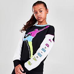 Girls' Jordan KSA Colorblock Crewneck Sweatshirt