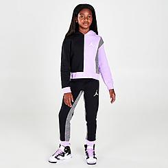 Girls' Jordan Colorblock Houndstooth Jogger Pants