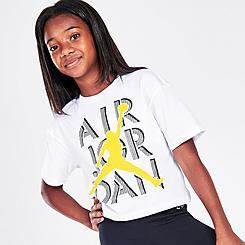 Girls' Jordan AJ4 Lightning Stack T-Shirt