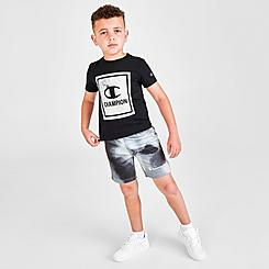 Boys' Little Kids' Champion Framed C T-Shirt and Shorts Set