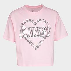 Girls' Converse Heart Graphic Boxy T-Shirt
