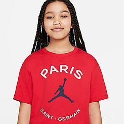 Girls' Jordan Paris Saint-Germain Boxy Logo T-Shirt